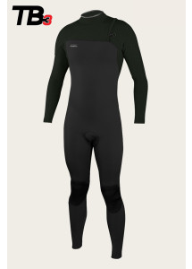 O'Neill Mens Hyperfreak 3/2mm Zip Free Wetsuit